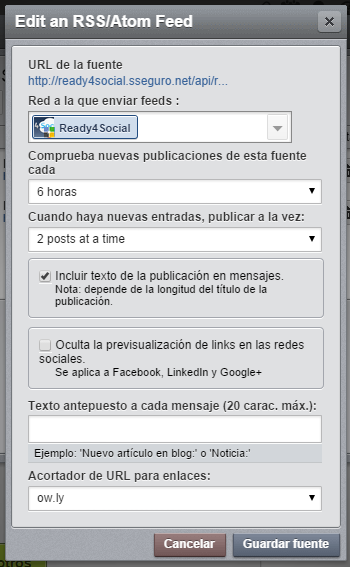 hootsuite. 6 horas 2 posts