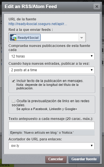 hootsuite. 12 horas 2 posts