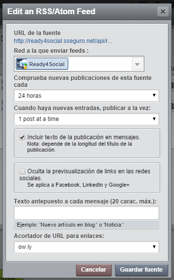 hootsuite. 24 horas 1 post