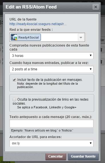hootsuite. 3 horas 2 posts